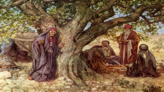 Image result for image of the lord appearing to abraham in front of his tent