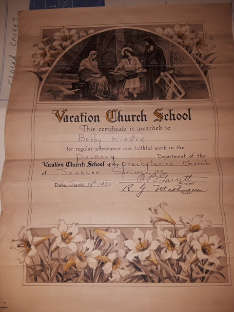 VBS certificate